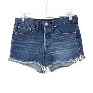BDG Sz 26 Tomgirl Jean Shorts Raw Cut Hem